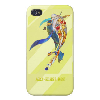 Golden Art Glass KOI Stylish  iPhone 4/4S Cases