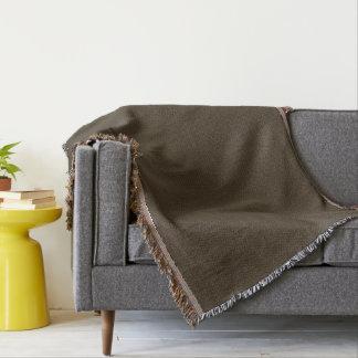 Golden Art Nouveau Peacock Drops Pattern Throw Blanket