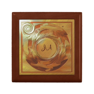 Golden Art with Small Birds Gift Box