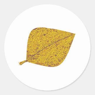 Golden Aspen Classic Round Sticker