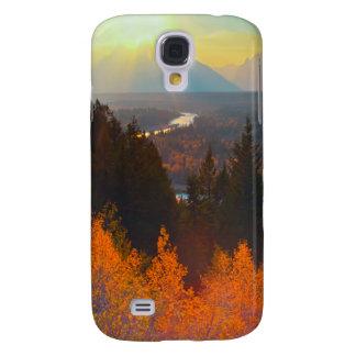Golden Aspens Above Snake River At Sunset Galaxy S4 Case