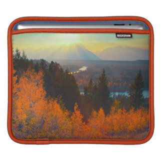Golden Aspens Above Snake River At Sunset iPad Sleeve
