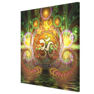 Golden Aum Dreams Canvas Stretched Canvas Prints