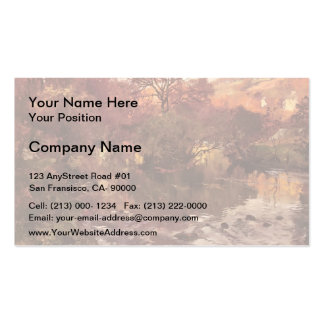 Golden Autumn Brittany by Frits Thaulow Business Cards