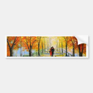 Golden autumn bumper sticker