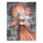 Golden Autumn Fairy Fantasy Art Postcard