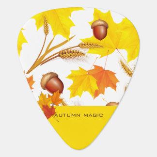 Golden Autumn Guitar Pick