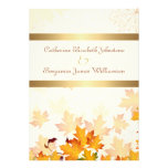 Golden Autumn Leaves Wedding Personalized Invitation