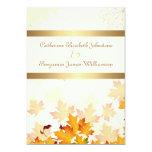 Golden Autumn Leaves Wedding Personalized Invitation