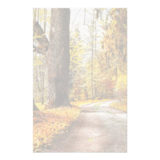 Golden Autumn, Path In Forest Personalised Stationery