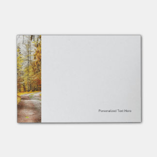 Golden Autumn, Path In Forest Post-it® Notes