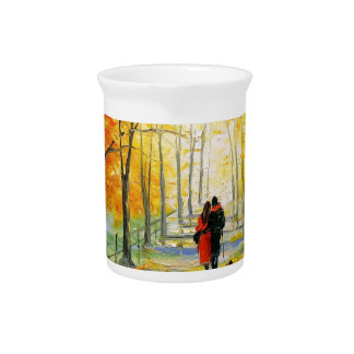 Golden autumn pitcher