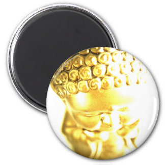 Golden Baby Buddha mousepad 6 Cm Round Magnet