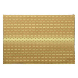 Golden background placemat