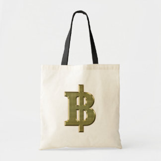 GOLDEN BAHT SIGN ฿ Thai Money Currency ฿ Tote Bag