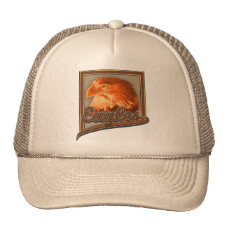 Golden Bald Eagle Design Trucker Hat