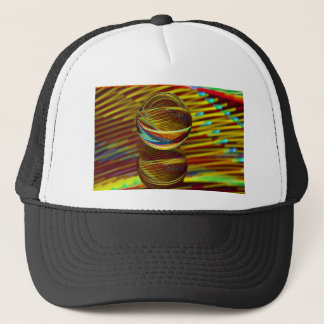 Golden ball trucker hat