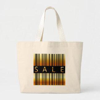 Golden barcode jumbo tote bag