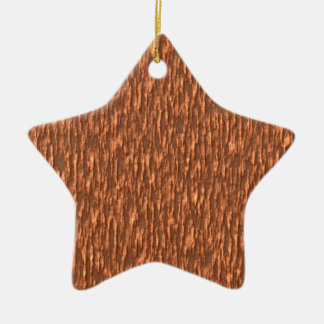 Golden Bark Ceramic Star Decoration
