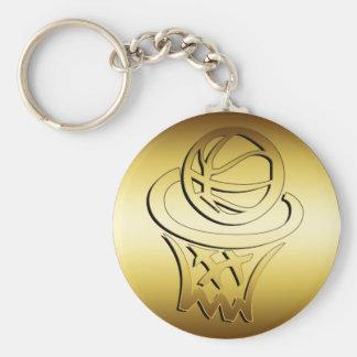 GOLDEN BASKETBALL HOOP KEYCHAINS