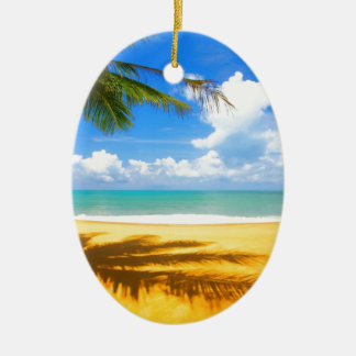Golden Beach Christmas Ornament