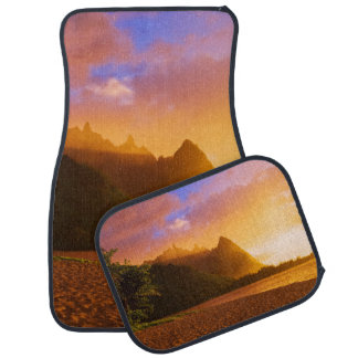 Golden beach sunset, Hawaii Car Mat