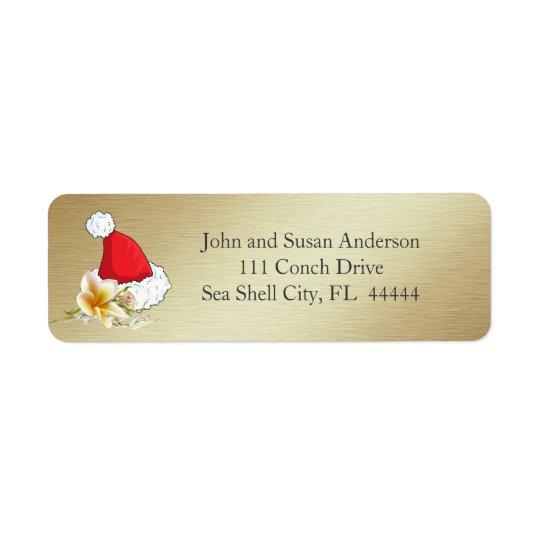 Golden Beach Tropical  Merry Christmas Address
