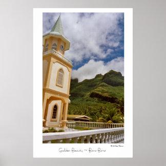 Golden Beauty ~ Bora Bora ~ Travel Poster