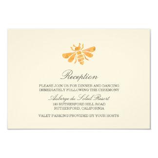 Golden Bee Watercolor Wedding Reception Card 9 Cm X 13 Cm Invitation Card
