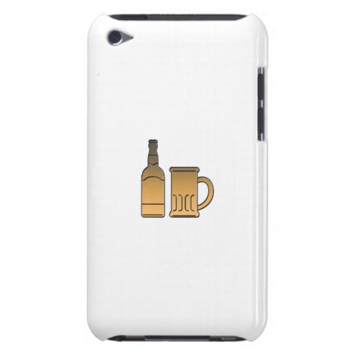 golden beer bottle mug isolated metallic barely there iPod case