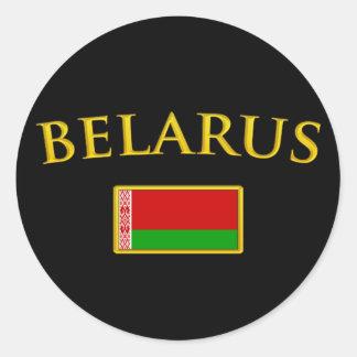 Golden Belarus Classic Round Sticker