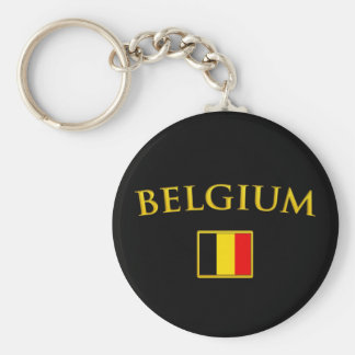 Golden Belgium Key Ring