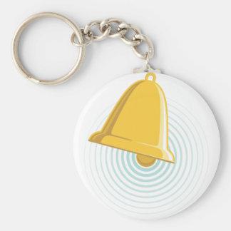 Golden Bell Alert Key Ring