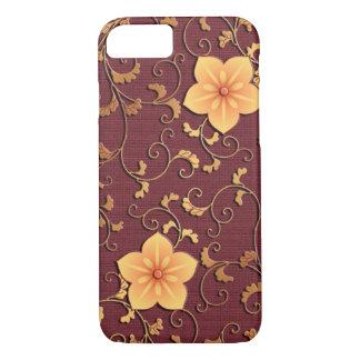 Golden Bellflower arabesque iPhone 7 Case