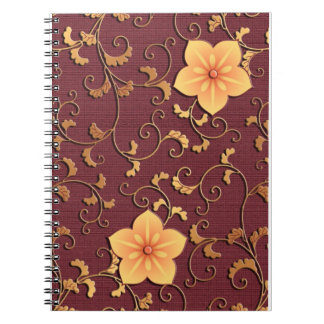 Golden Bellflower arabesque Notebook