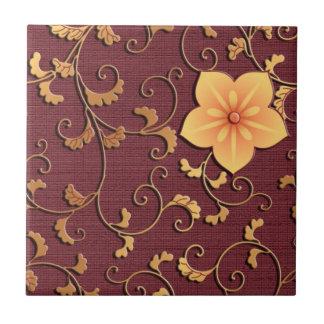 Golden Bellflower arabesque Tile