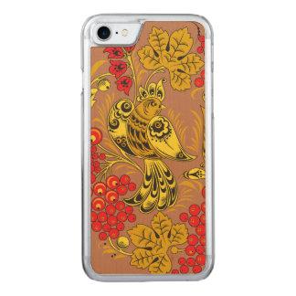 Golden Bird Carved iPhone 8/7 Case