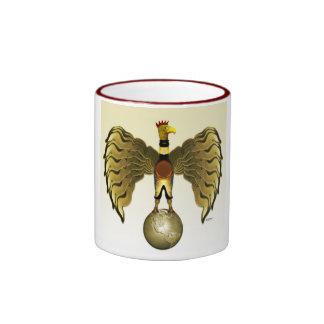 Golden Bird Ringer Mug