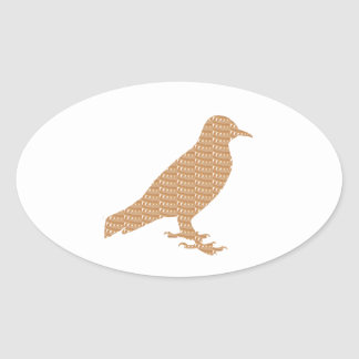 GOLDEN Bird: Pet Kids Zoo Play Decoration lowprice Oval Sticker