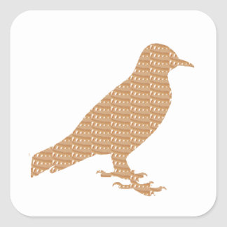 GOLDEN Bird: Pet Kids Zoo Play Decoration lowprice Square Stickers