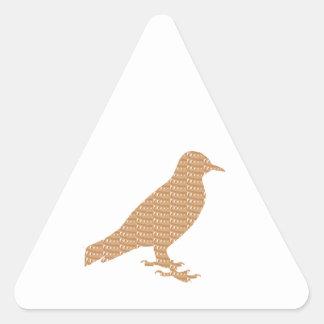 GOLDEN Bird: Pet Kids Zoo Play Decoration lowprice Triangle Sticker