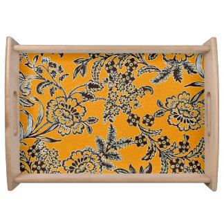Golden Blossom Serving Tray