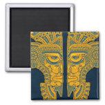 Golden Blue Aztec Twins