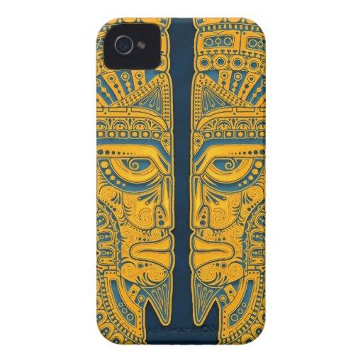 Golden Blue Aztec Twins Blackberry Bold Covers