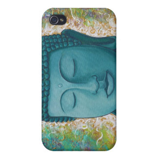 Golden Blue Buddha iPhone case Cover For iPhone 4