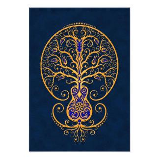 Golden Blue Guitar Tree of Life Announcement