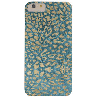 Golden Blue Leopard Barely There iPhone 6 Plus Case