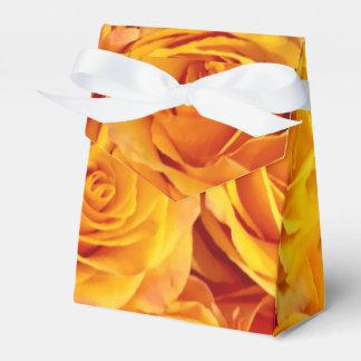 Golden Bold Roses Favour Box