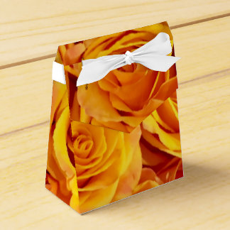 Golden Bold Roses Wedding Favour Box