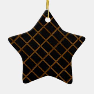 Golden Border on Elegant Black Base Ornament